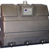 This model is a polyethylene upright tank with 50 gallon capacity. It may be used for a two line or three line system.
