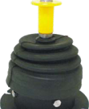 """DAV 1227 is a """"joystick"""" air control valve that assembles two DAV1221 pneumatic valves with a detent to hold in one position."""
