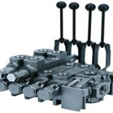 The 61 series load sense directional valve is a sectional type valve with a flow rating up to 60 GPM that is rated to 3500 PSI. The valve is closed-center, load-sensing with individual spool compensators for uninterrupted simultaneous operation.
